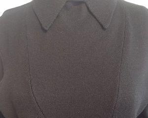 Pink Tartan Sweaters - Pink Tartan Pointed Collar Sweater